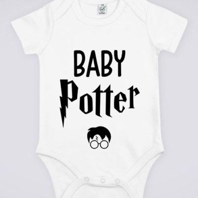 """Image de body blanc pour bébé """"Baby Potter - Harry Potter"""" - MCL Sérigraphie"""