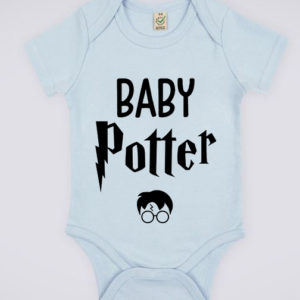 """Image de body bleu pour bébé """"Baby Potter - Harry Potter"""" - MCL Sérigraphie"""