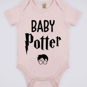 """Image de body rose pour bébé """"Baby Potter - Harry Potter"""" - MCL Sérigraphie"""