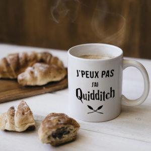 """Image de mug """"J'peux pas j'ai Quidditch - Harry Potter"""" - MCL Sérigraphie"""