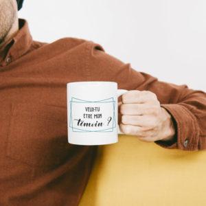 """Image de mug """"Veux-tu être mon témoin ?"""" - MCL Sérigraphie"""