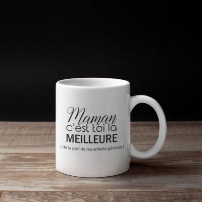 """Image de mug """"Maman c'est toi la meilleure"""" - MCL Sérigraphie"""