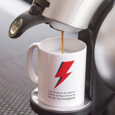 """Image de mug """"L'éclair de Bowie"""" - MCL Sérigraphie"""