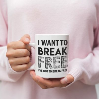 "Image de mug ""I want to break free - Queen"" - MCL Sérigraphie"