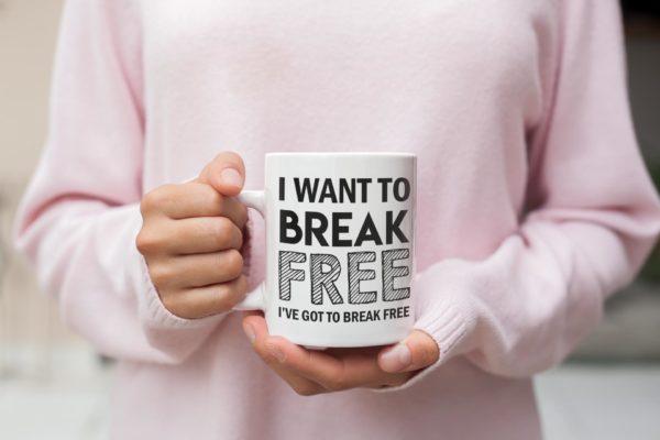 "Image de mug ""I want to break free - Queen"" - MCL Sérigraphie"
