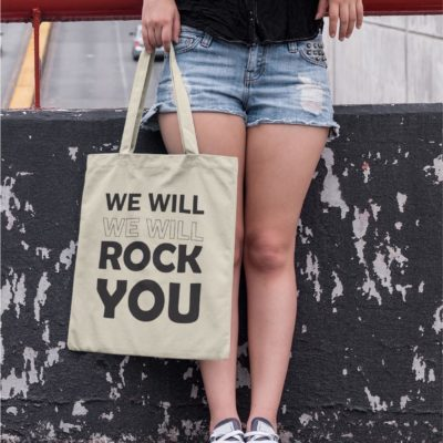 "Image de tote-bag ""We will rock you - Queen"" - MCL Sérigraphie"