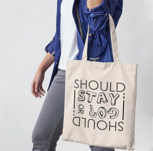 Tote-bag - Should I stay or should I go
