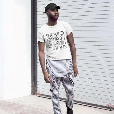 T-shirt Blanc - Should I stay or should I go