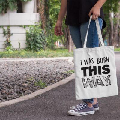 Tote bag Born This way