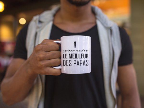 """Image de mug """"Cet homme c'est le meilleur des papas"""" - MCL Sérigraphie"""