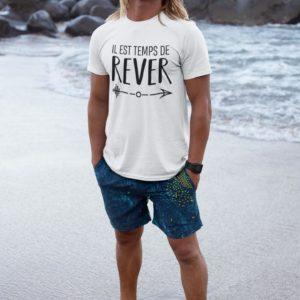 T-shirt - Il est temps de rêver BLANC