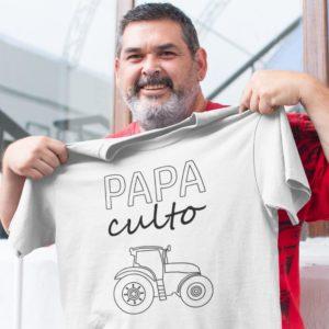 """Image de t-shirt blanc pour homme """"Papa culto"""" - MCL Sérigraphie"""