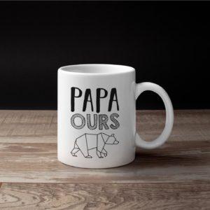 """Image de mug """"Papa ours"""" - MCL Sérigraphie"""