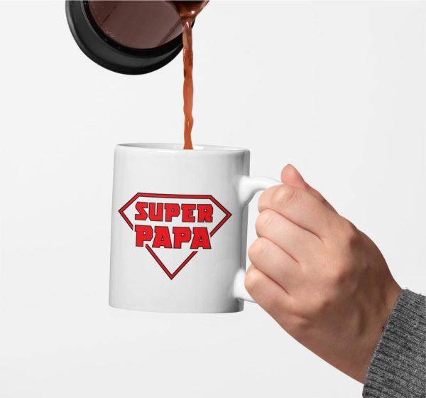 """Image de mug """"Super papa"""" - MCL Sérigraphie"""