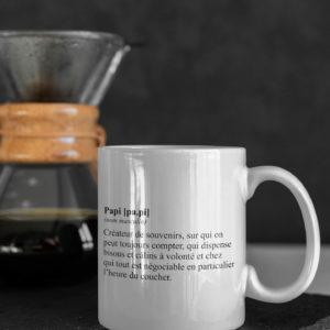 "Image de mug ""Définition de papi"" - MCL Sérigraphie"