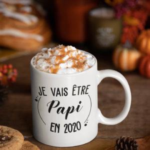 """Image de mug """"Je vais être papi en 2020"""" - MCL Sérigraphie"""