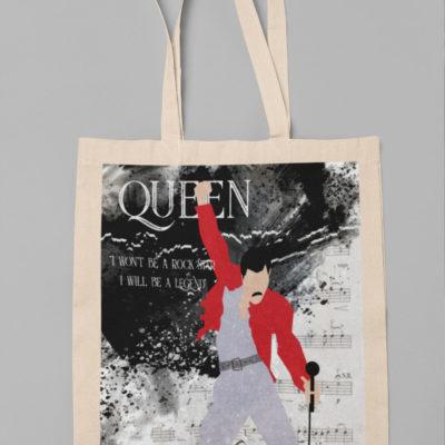 "Image de tote-bag ""Freddie Mercury"" - MCL Sérigraphie"