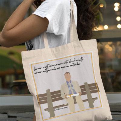 "Image de tote-bag ""Forrest Gump"" - MCL Sérigraphie"
