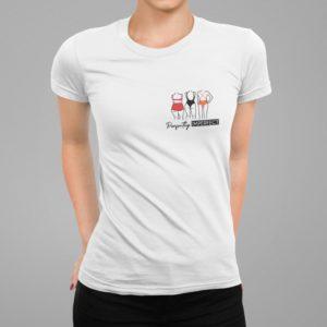 """Image de t-shirt blanc pour femme """"Body Positive"""" - MCL Sérigraphie"""