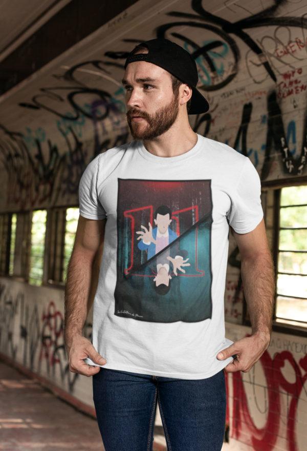 """Image de t-shirt blanc pour homme """"Stranger Things"""" - MCL Sérigraphie"""