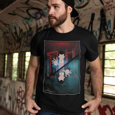 """Image de t-shirt noir pour homme """"Stranger Things"""" - MCL Sérigraphie"""
