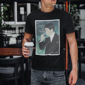 """Image de t-shirt noir pour homme """"Peaky Blinders"""" - MCL Sérigraphie"""
