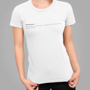 """Image de t-shirt blanc pour femme """"Alcoolyte""""- MCL Sérigraphie"""