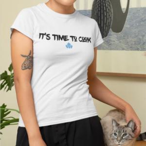 "Image de t-shirt blanc pour femme ""It's time to cook - Breaking Bad""- MCL Sérigraphie"