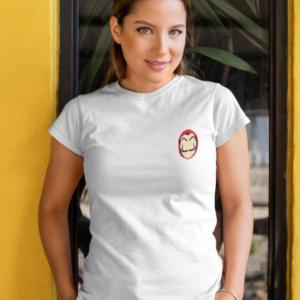 """Image de t-shirt blanc pour femme """"Masque Casa De Papel"""" - MCL Sérigraphie"""