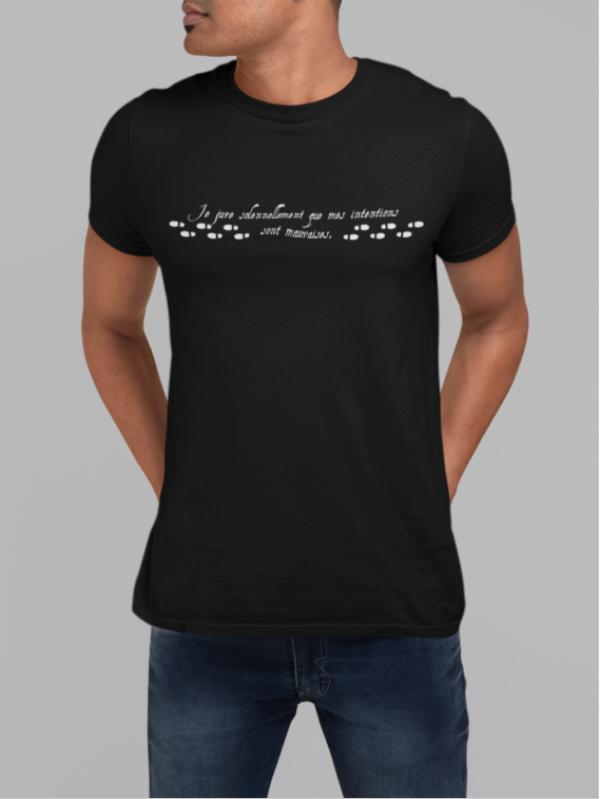 """Image de t-shirt noir pour homme """"Carte de Maraudeur - Harry Potter""""- MCL Sérigraphie"""