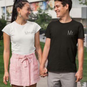 T-shirts duo blanc et noir