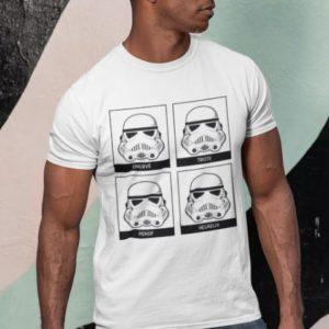 """Image de t-shirt blanc pour homme """"Stormtrooper - Star Wars"""" - MCL Sérigraphie"""