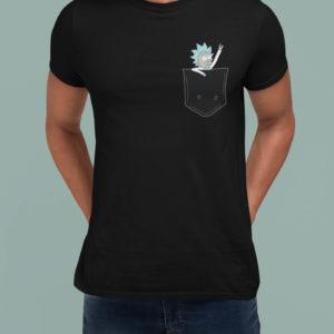 """Image de t-shirt noir pour homme """"Rick"""" - MCL Sérigraphie"""