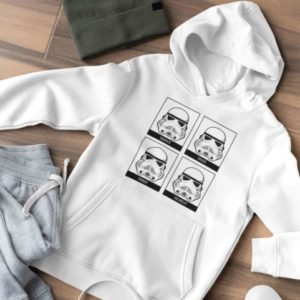Sweat blanc homme star wars stormtrooper