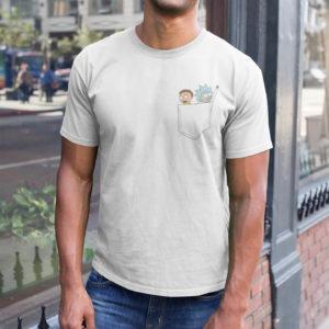 """Image de t-shirt blanc pour homme """"Rick et Morty"""" - MCL Sérigraphie"""