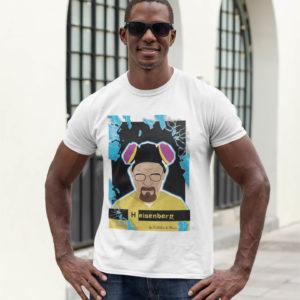 """Image de t-shirt blanc pour homme """"Heisenberg"""" - MCL Sérigraphie"""