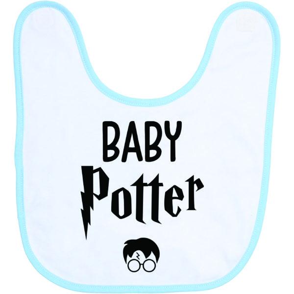 """Image de bavoir bleu et blanc """"Baby Potter"""" - MCL Sérigraphie"""