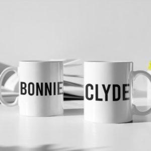 "Image de duo de mugs ""Bonnie/Clyde"" - MCL Sérigraphie"