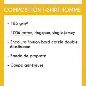 Image de la composition des t-shirts homme - MCL Sérigraphie