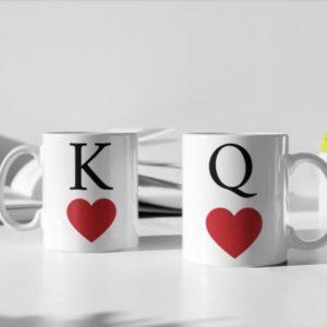 "Image de duo de mugs ""King/Queen"" - MCL Sérigraphie"