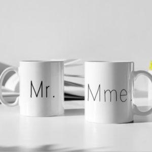 """Image de duo de mugs """"Mr/Mme"""" - MCL Sérigraphie"""