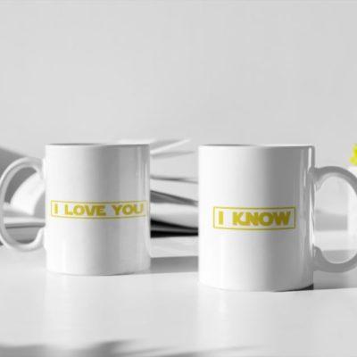 """Image de duo de mugs """"I love you/I Know - Star Wars"""" - MCL Sérigraphie"""