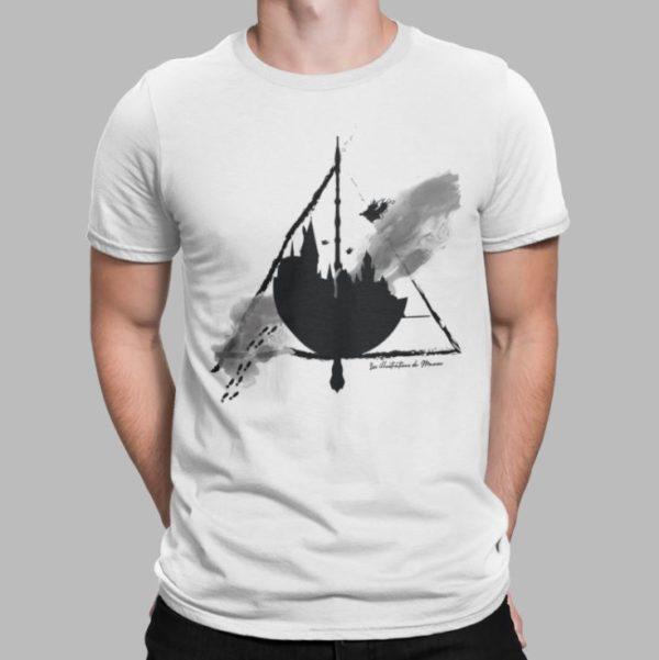 """Image de t-shirt blanc homme """"Harry Potter - Poudlard"""" - MCL Sérigraphie"""