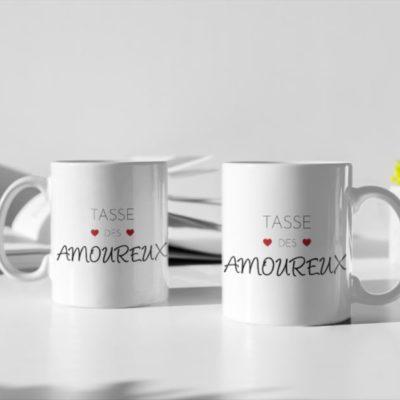 """Image de duo de mugs """"Tasse des amoureux"""" - MCL Sérigraphie"""