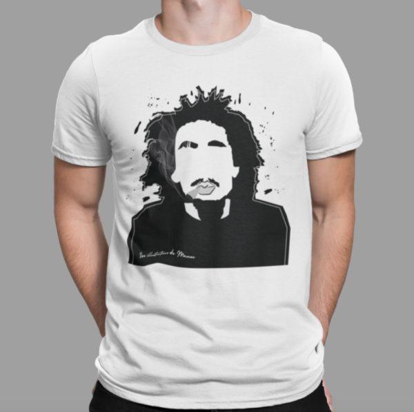 """Image de t-shirt blanc homme """"Bob Marley"""" - MCL Sérigraphie"""