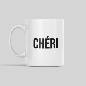 "Image tasse ""chéri"" - MCL Sérigraphie"