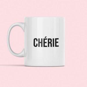 """Image tasse """"chérie"""" - MCL Sérigraphie"""