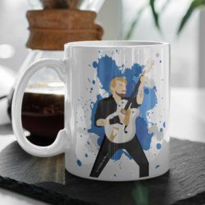 tasse Johnny Hallyday bleu