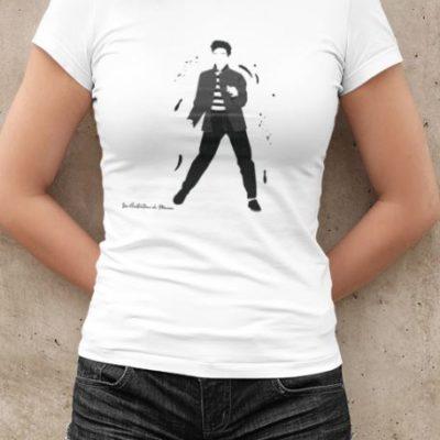 """Image de t-shirt blanc femme """"Elvis Presley"""" - MCL Sérigraphie"""