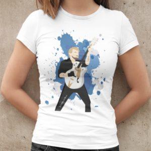 t-shirt femme Johnny Hallyday bleu